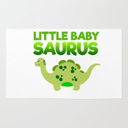 Green Little Baby Saurus Rug