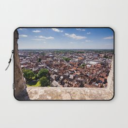 View of York from York Minster Cathedral tower Laptop Sleeve