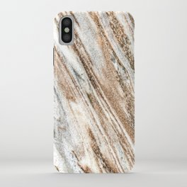 Marble Slab Texture // Gold Silver Black Gray White Stripes Luxury Rugged Rustic Rock iPhone Case