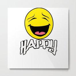 Mr. Happy Metal Print