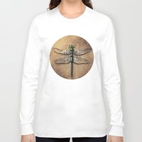dragonfly Long Sleeve T-shirts featuring Dragonfly  by Werk of Art