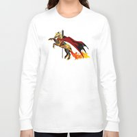 smaug Long Sleeve T-shirts featuring Smaug by MarieJacquelyn