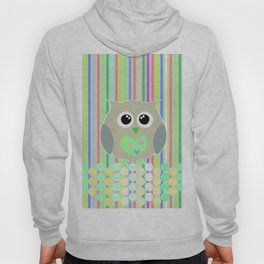 owl/colorful/bright/ Hoody