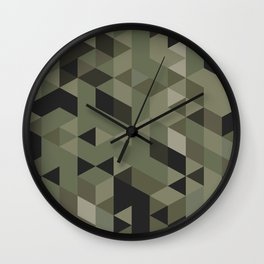 Isometric Camo Wall Clock