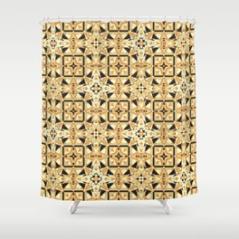 Cookie Or Hardwood? Try And Find Out! Seamless Pattern Shower Curtain
