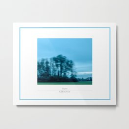 On the road, modern travelling landscape photography. Metal Print