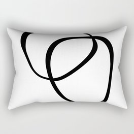 Interlocking Two - Black & White Rectangular Pillow