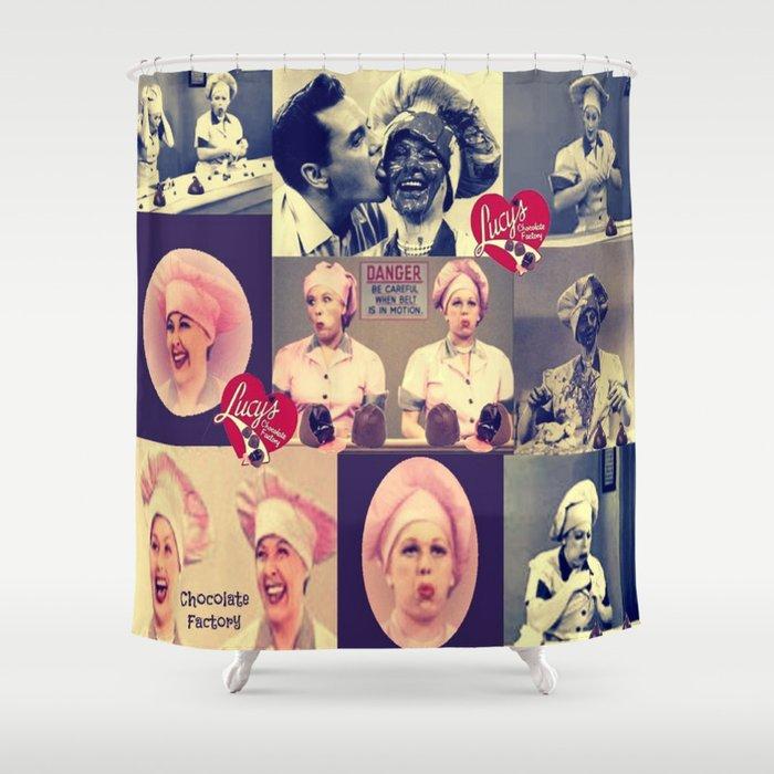 RETRO LUCY COLLAGE Shower Curtain By Bluevelvetdesigns