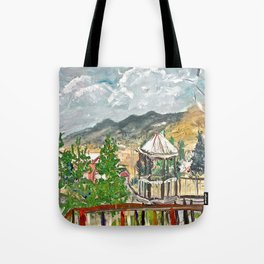 Expression Twin Flowers Tote Bag