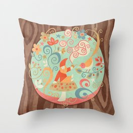 There's Gnome Place Like Home Throw Pillow