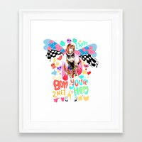 2ne1 Framed Art Prints featuring 2NE1 Happy: Park Bom by Haneul Home