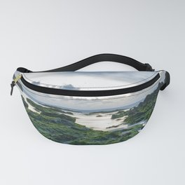The blue beach with green life Fanny Pack
