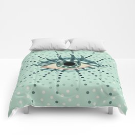 Dots And Abstract Eye Comforters