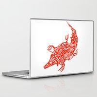 crocodile Laptop & iPad Skins featuring Crocodile by SvetIu