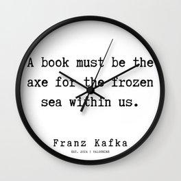 2  | Franz Kafka Quotes | 190909 Wall Clock