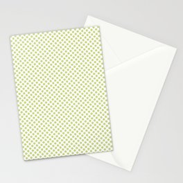 Lime Sherbet Polka Dots Stationery Cards