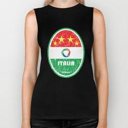 World Cup Football 2/8 - Italia (Distressed) Biker Tank