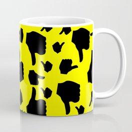 black thumb up and down pattern Coffee Mug