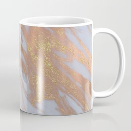 Marble - Rose Gold Marble with Yellow Gold Glitter Coffee Mug
