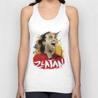 zlatan Tank Tops featuring Zlatan by Conal Deeney