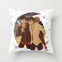 marauders Throw Pillows featuring marauders moon by Kirsten Stackhouse