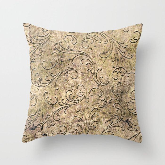 Vintage Damask 17416 Throw Pillow