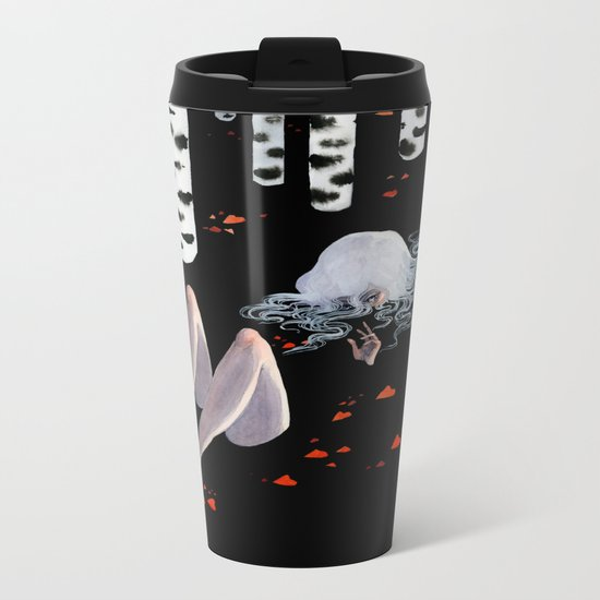 Birch forest Metal Travel Mug
