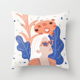 Thinkin About Kissin You Throw Pillow