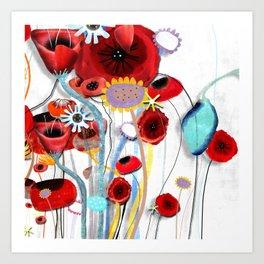 Here's my blooming heart, don´t break it  Art Print