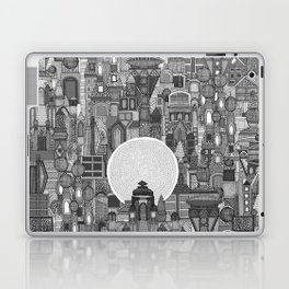 space city mono bw Laptop & iPad Skin