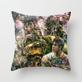 Lady of the Copper Mountain Throw Pillow
