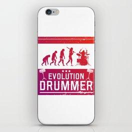 Evolution Drummer   Drums Musician iPhone Skin