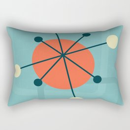 Mid century atomic design Rectangular Pillow