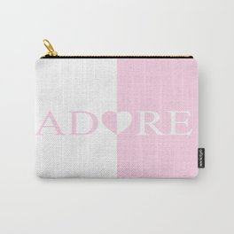 ADORE Amour Love Heart Design Carry-All Pouch