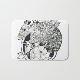 autumn rat Bath Mat
