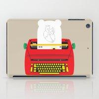 typewriter iPad Cases featuring Typewriter by EinarOux
