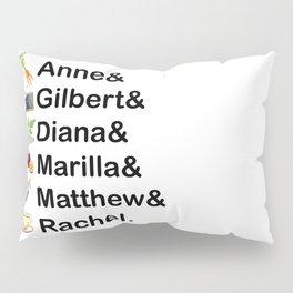 Anne of Green Gables Names Pillow Sham