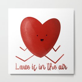 Love is in the air Heart hand drawn heart shaped picture Metal Print