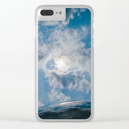 Afternoon Sky with Chicago Cloud Gate Clear iPhone Case