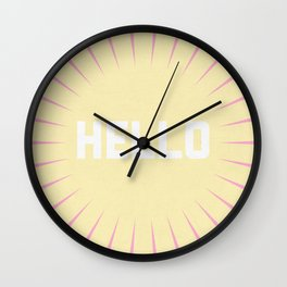 Hello Summer Wall Clock