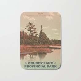 Grundy Lake Provincial Park Poster Bath Mat