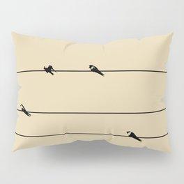 Birds Of A Wire Pillow Sham