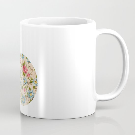 Whimsical cute girly floral retro bicycle Mug