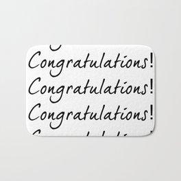 Congratulations! Bath Mat