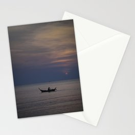 Rowing into the sunset II Stationery Cards