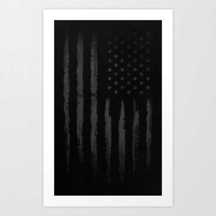 Black American flag Kunstdrucke