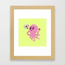 Squid love Framed Art Print