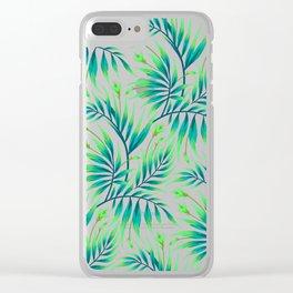 Waikiki Palm - Green Clear iPhone Case