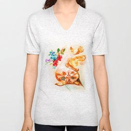 Ginger Kitty - decide what you stand for Unisex V-Neck