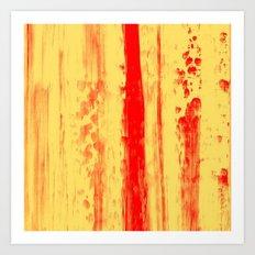Gerhard Richter Inspired Abstract Urban Rain 3 Art Print